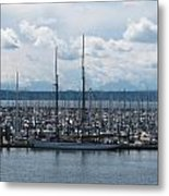 Sailboats In Seattle Metal Print
