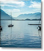 Sailboats On Como Metal Print