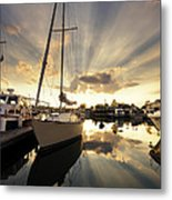 Sailed In Metal Print by Alexey Stiop