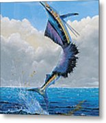 Sailfish Dance Off0054 Metal Print