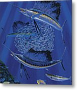Sailfish Round Up Off0060 Metal Print