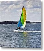 Sailing Along Metal Print