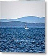 Sailing Amidst The Buoys Metal Print