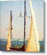Sailing At Daytona Metal Print