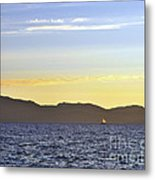 Sailing At Sunset - Lake Tahoe Metal Print