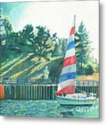 Sailing Back To Port Metal Print