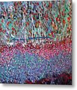 Sailing Among The Flowers Metal Print