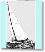 Sailing Freedom On A Reach Metal Print