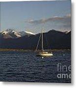 Sailing Boat On An Alpine Lake Metal Print