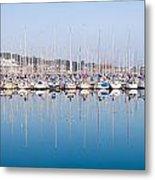 Sailing Boats In The Howth Marina Metal Print