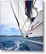 Sailing Bvi Metal Print by Adam Romanowicz