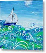 Sailing By Jan Marvin Metal Print
