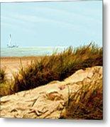 Sailing By Sand Dune Metal Print