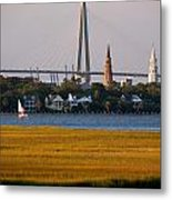 Sailing Charleston Metal Print