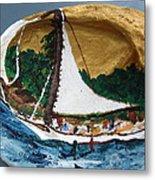 Sailing Forest Sea Metal Print