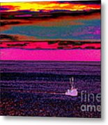 Sailing Home After Long At Sea Metal Print