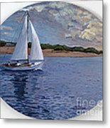 Sailing Homeward Bound Metal Print