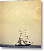 Sailing II Metal Print by Angela Doelling AD DESIGN Photo and PhotoArt