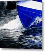 Sailing In Blue Metal Print