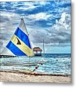 Sailing In Cancun Metal Print