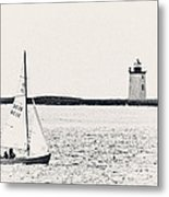 Sailing In Cape Cod Metal Print
