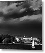 Sailing In Front Of The Sagamore Metal Print