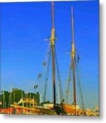 Sailing In Maine Metal Print
