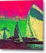 Sailing In Shimmer Metal Print