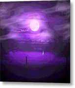 Sailing In The Moonlight Metal Print