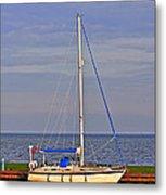 Sailing In Volendam Metal Print