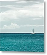 Sailing On A Turquoise Sea Metal Print by Jason Bartimus