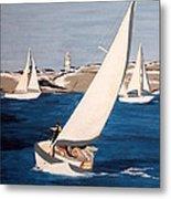 Sailing On San Francisco Bay Metal Print