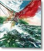 Sailing On The Breeze Metal Print