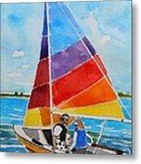 Sailing On The Choptank Metal Print