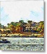 Sailing On The Nile Metal Print