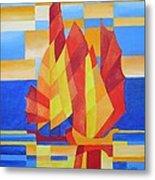 Sailing On The Seven Seas So Blue Metal Print by Tracey Harrington-Simpson
