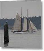Sailing Puget Sound Metal Print