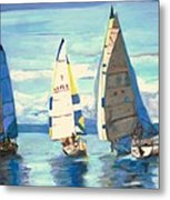 Sailing Regatta At Port Hardy Metal Print
