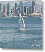 Sailing San Diego Metal Print