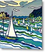 Sailing School Manchester By-the-sea Metal Print