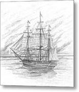 Sailing Ship Enterprise Metal Print by Michael Penny