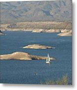 Sailing The Desert Metal Print