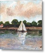 Sailing The Lagoon Metal Print