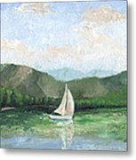 Sailing The Lake 1 Metal Print
