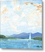 Sailing The Lake 2 Metal Print
