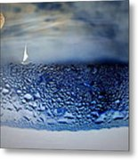 Sailing The Liquid Blue Metal Print
