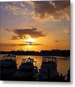 Sailing To Sunset Metal Print