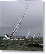 Sailing To Windward Metal Print