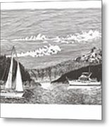 Sailing Mount Hood Oregon Metal Print