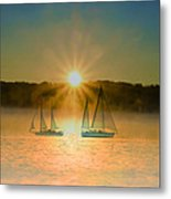 Sailing When The Sun Comes Up Metal Print